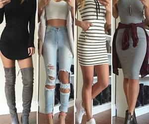 jeans, style, and dress image