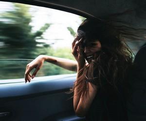 girl, car, and smile image