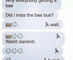 bae, funny, and bus image