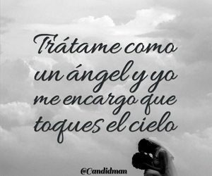 love, frases, and angel image