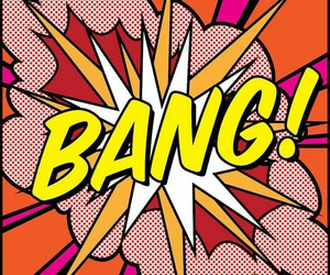 bang, pop art, and art image