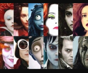 mad hatter, queen of hearts, and jhonny+depp image