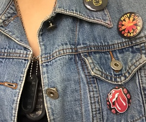 jeans, look, and patches image