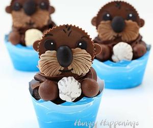 adorable, sea, and chocolate image