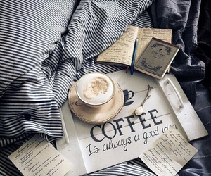 coffee, bed, and morning image