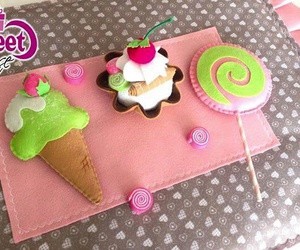 cup cakes, diy, and felt image