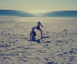 beach, girl, and Sunny image