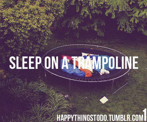 trampoline, sleep, and summer image