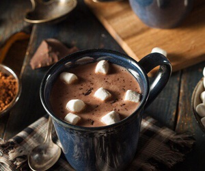 hot ​chocolate, chocolate, and marshmallow image