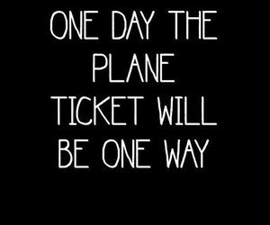 plane, ticket, and love image