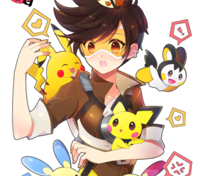 pokemon, tracer, and electric types image