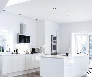 interior, white, and kitchen image