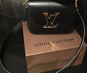 Louis Vuitton, bag, and black image
