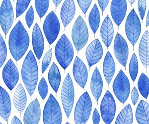 blue, leaves, and wallpaper image