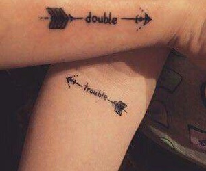 tattoo, best friends, and trouble image