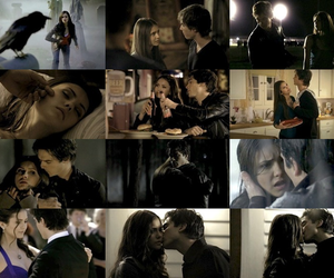 otp, the vampire diaries, and damon elena image