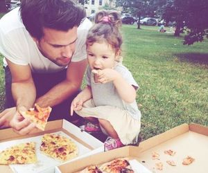 family, dad, and pizza image