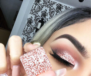 beauty, hair, and eye makeup image
