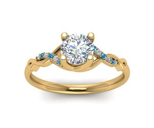 diamond rings online, gold engagement rings, and topaz jewelry image