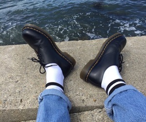 tumblr, dr martens, and sea image