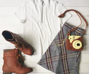 accessories, camera, and fall fashion image