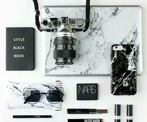 black, camera, and marble image