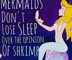 mermaid, quote, and disney image