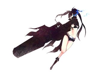anime, black rock shooter, and girl image