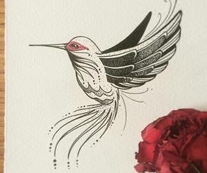 colibri and tattoo image