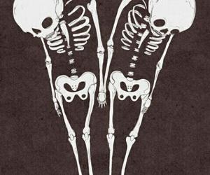 skeleton, skull, and grunge image
