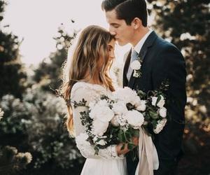 wedding, love, and couple image