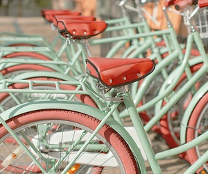bicycle, red, and green image