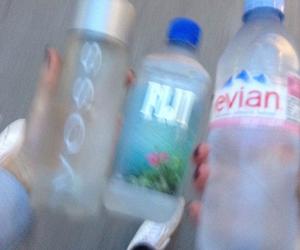 water, fiji, and evian image