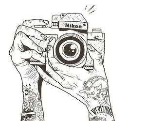 nikon, tattoo, and camera image