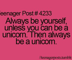unicorn, funny, and quote image
