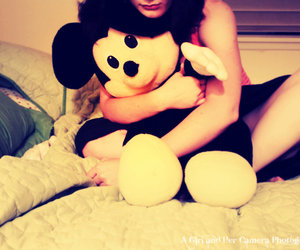 bed, girl, and disney image