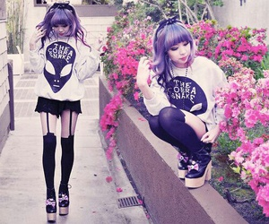 pastel goth and kawaii image