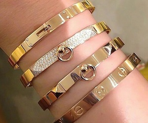 cartier, gold, and luxury image