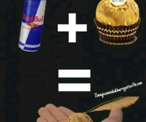harry potter, red bull, and funny image