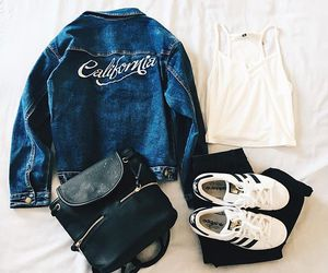 outfit, adidas, and california image