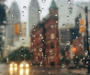 rain, autumn, and city image