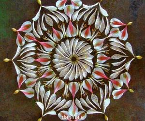brown, flower, and mandala image