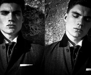 black and white, Hottie, and zane holtz image