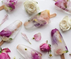 dessert, rose, and ice popsicles image