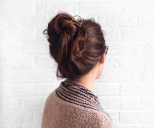 bun, chic, and hair image