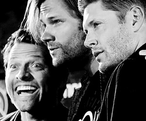 supernatural, misha collins, and Jensen Ackles image