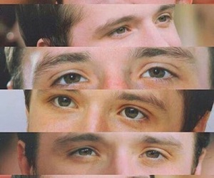 josh hutcherson, eyes, and peeta mellark image