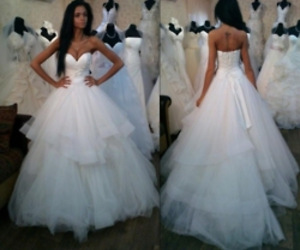 bride, dresses, and girl image