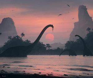 dinosaur and world image