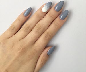 grey, manicure, and nails image